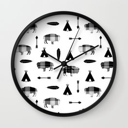 Buffalo Tribe Wall Clock