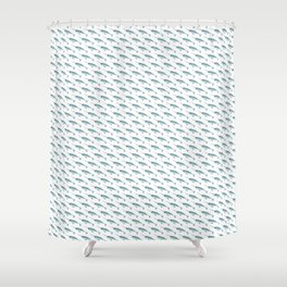 Narwhal on White Shower Curtain