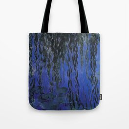 "Claude Monet ""Water Lilies and Weeping Willow Branches"", 1919 Tote Bag"