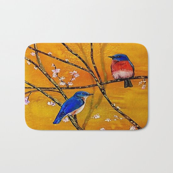 Blue Birds Bath Mat