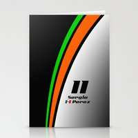 f1 Stationery Cards featuring F1 2015 - #11 Perez by MS80 Design