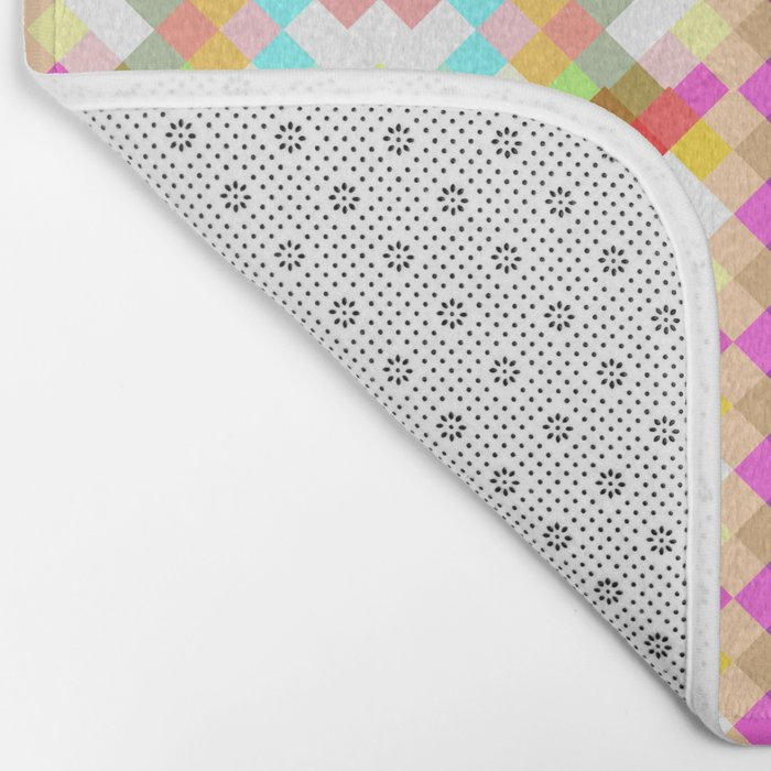 Colorful pixels Bath Mat