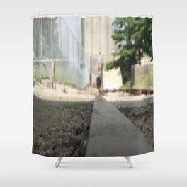 Railroad Tie Shower Curtain