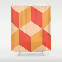 geo Shower Curtains featuring Geo by crrr