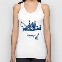 finland Tank Tops featuring Hinaaja (Finland) Gay Slang Collection. Blue. by Moscas de colores