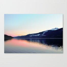 Sunset on Arrow Lake Canvas Print