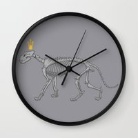lion king Wall Clocks featuring lion king by ErDavid