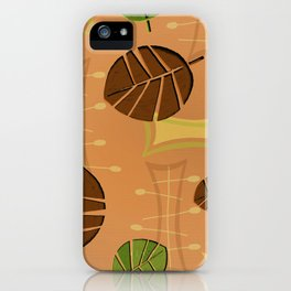 Tiki Bar Wallpaper Pattern iPhone Case