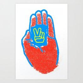 Piece of Peace Art Print