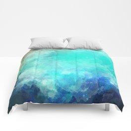 Watercolor Aerial View of Ocean Cove {Gold Coast} Comforters