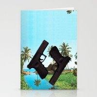 guns Stationery Cards featuring guns by Hoeroine