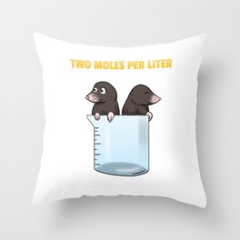 Two Moles Per Liter Chemistry Science Throw Pillow