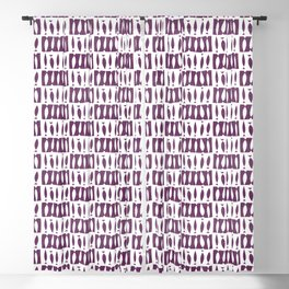 ABSTRACT AFRICAN FISHES BORDEAUX WHITE  Blackout Curtain