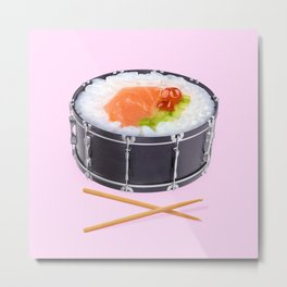 SUSHI DRUM ROLL Metal Print