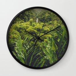 Jungle Waterfall II Wall Clock