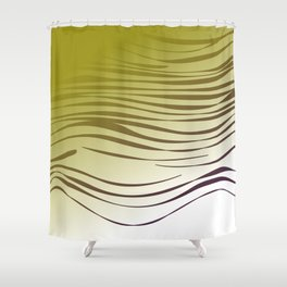 gold wild lines ethnic Shower Curtain
