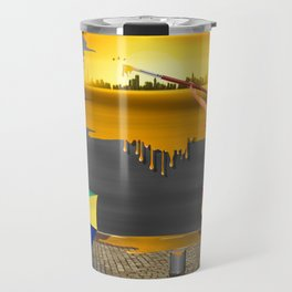 An artist paints his life colorful Travel Mug