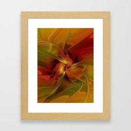Warmth, Abstract Fractal Art Framed Art Print
