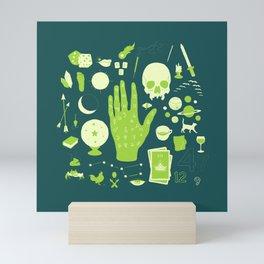 Methods of Divination - Green Mini Art Print