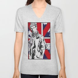 Hail Britannia /  Private Detective by Peter Melonas Unisex V-Neck