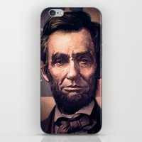 lincoln iPhone & iPod Skins featuring Lincoln by Dominick Saponaro