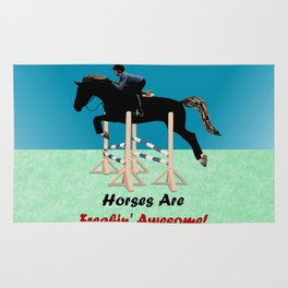Horses Are Freakin' Awesome Rug