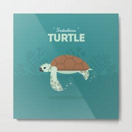 The Sea turtle Metal Print