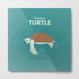 The Sea turtle Metal Print