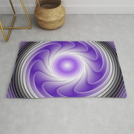 The Power Of Purple, Modern Fractal Art Graphic Rug