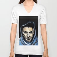 spock V-neck T-shirts featuring Spock by James Kruse