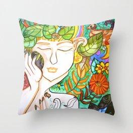 Earth Awakening Throw Pillow