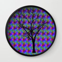 Psychedelic Mystery Tree Wall Clock