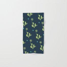 Spider Daisies (green + navy) Hand & Bath Towel