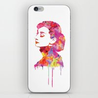 audrey iPhone & iPod Skins featuring Audrey by Fimbis