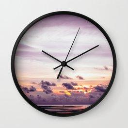 Maldivian sunset 3 Wall Clock