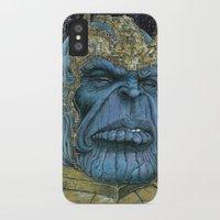 thanos iPhone & iPod Cases featuring Thanos of Titan by GraphixRob Studios