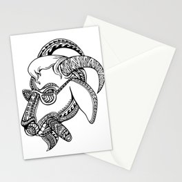 Goat Cigar Tribal Tattoo Style Stationery Cards