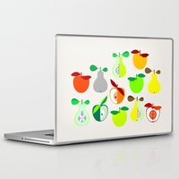 50s Laptop & iPad Skins featuring Apples and Pears / Geometrical 50s pattern of apples and pears by In The Modern Era