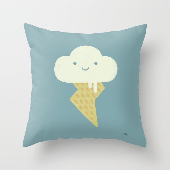 Stormy and Sweet Throw Pillow