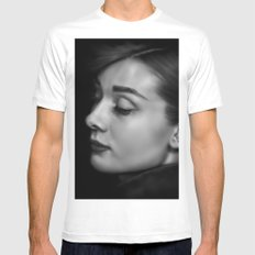 Audrey White Mens Fitted Tee MEDIUM