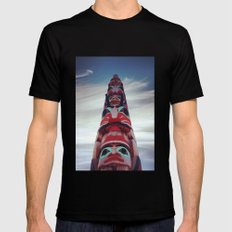 Looking Up Mens Fitted Tee Black MEDIUM