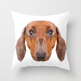 Dachshund Dog Throw Pillow