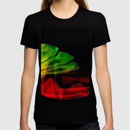 Abstract colour wave aesthetic T-shirt