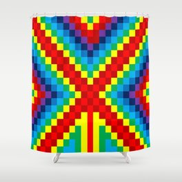 Fuzz Line #4 Shower Curtain