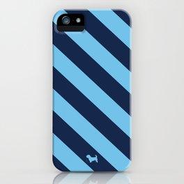 Preppy & Classy, Navy Blue / Blue Striped iPhone Case