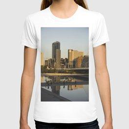 Valencia cityscape in gold T-shirt