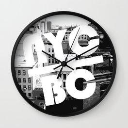 NYC Broken Comedy Wall Clock