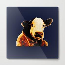 Business Cow Metal Print