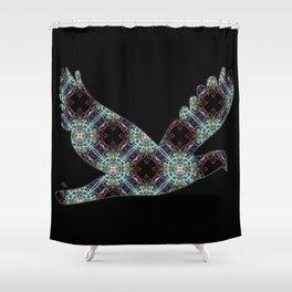 Peace Dove Kaleidoscope Shower Curtain