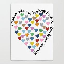 Hearts Heart Teacher Poster